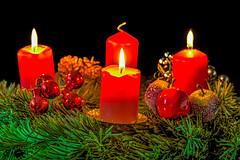 3. Advent (dietmar-schwanitz) Tags: christmas light red color colour green rot weihnachten licht candles advent grn farbe adventskranz kerzen hdr lightroom photomatix nikonafsmicronikkor105mmf28ged dietmarschwanitz nikond750