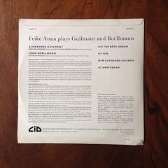 Backside L.Boellmann - Suite Gotique, A.Guilmant - Marche Funebre - Feike Asma Baetz-Orgel Organ Orgue, New Lutheran Church, Amsterdam, Dureco CID 130.159 LP, 1957, 10 inch (Piano Piano!) Tags: lboellmannsuitegotique aguilmantmarchefunebrefeikeasmabaetzorgelorganorgue newlutheranchurch amsterdam durecocid130159lp 1957 10inch