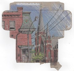 Soulard, St.Louis (Peter Rush - drawings) Tags: stlouis missouri soulard sketch urbansketchers midwest redbrick peterrush emmet st