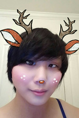 Getting into the holiday season! (hyprsleepy) Tags: snapchat asian girl woman transgender genderqueer cute pretty