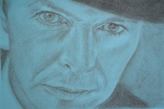 David Bowie portrait (Claudia De Facci) Tags: davidbowie ritratto portrait art arte carboncino charcoaldrawing disegno artist artista music musica