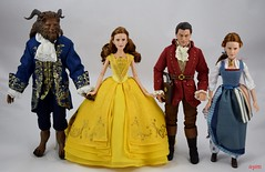 Disney Film Collection Beauty and the Beast Dolls - Beast, Ball Gown Belle, Gaston and Peasant Belle (drj1828) Tags: us disneystore beautyandthebeast liveactionfilm 2017 disneyfilmcollection belle doll posable purchase 1112inch yellow ballgown deboxed standing beast 13inch groupphoto 12inch gaston blue peasant