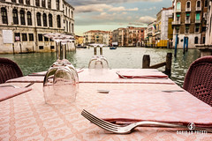 Dinner in Venice (Dario Lo Presti) Tags: italy vacations architecture canal chairs clouds culture day destinations dining dinner europe gastronomy glass gourmet grandcanal hospitality lagoon little lunch meal mediterranean nobody outdoors private quay restaurant riverside romantic romanticdinner romantictable sea setting shore silverware sunset table tableset tablecloth tables tableware terrase tourism tourist traditional travel venice water waterside venezia veneto italia it