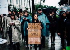 210/365 Inauguration Day (II) (Emily Moy Photography) Tags: red politics portrait inauguration losangeles cityhall protest notrump notmypresident womensrights rain raininlosangeles canon 365 365project cinematic emotion emilymoy emilymoyphotography journalism