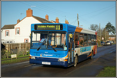 34625, Long Buckby (Jason 87030) Tags: stagecoach dennis dart 34625 11 daventry ashbyfiles stationroad longbuckby sunny december 2016 northants northamptonshire sony a6000 alpha ilce nex bus transport roadside shot kx54ooy