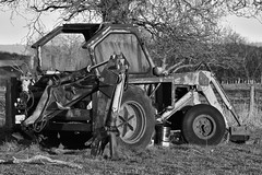 Discarded Tractor (martin_john_evans) Tags: tractor discarded blackandwhite nosterfield
