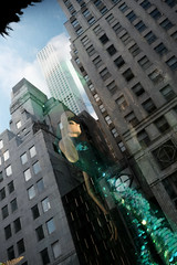 Storefront Reflection of 432 Park Avenue (Zach K) Tags: storefront reflection windown mannequin green sequin dress high rise highrise reflector evening cocktaildress nyc gotham gothamcity architecture design classy condo tall building skyscraper midtown parkave park avenue fuji fujifilm xt1