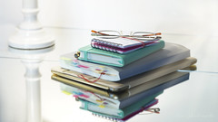 The paperless office? (Elisafox22) Tags: sony nex6 pentacon50mm lens 52in2017 reflection reflections mirror mirrortiles lamp highkey ipad filofax flex notebook week1reflections spiralbound notes paperlessoffice specs spectacles glasses indoors stilllife conflict ideas elisaliddell©2017 elisafox22