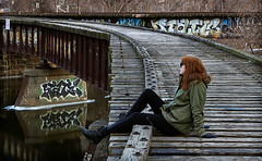 A girl and a bridge (TwinCitiesSeen) Tags: people minneapolis minnesota twincities twincitiesseen canont3i tamron2875mm
