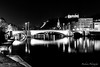 Pont Bonaparte à Lyon en B&W (Bouhsina Photography) Tags: pont bonaparte nuit lumière long exposition lyon france street bouhsina bouhsinaphotography canon 5diii ef2470 2016 reflection wow