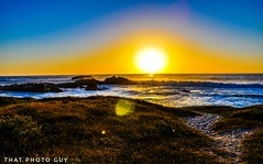 """""""Know what you want to do, hold the thought firmly, and do every day what should be done, and every sunset will see you that much nearer to your goal."""" (gwrdhqsd3) Tags: california sunset californiasunset montereybay roadtrip beach beachsunset usa oceanview"""