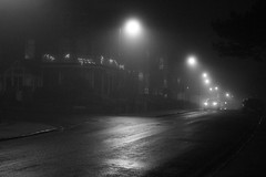 Foggy Felixstowe in Black and White (Bay M) Tags: felixstowe suffolk night tinme time foggy mist thick bw black white monochrome manual setting p canon 650d exposure grey
