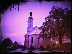 cath. church of Görwihl, Germany (Veitinger) Tags: veitinger germany deutschland kirche church gebäude building winter schnee snow rahmen bound görwihl schwarzwald blackforest badenwürttemberg lila violet