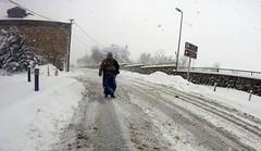 Umbrella, - ella, - ella (hacky_Am) Tags: istanbul snow kar schnee street matsch frau regenschirm umbrella ground turkey winter women kadin