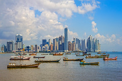 NYU Alumni Club in Panama (nyualumnirelations) Tags: largegroupofobjects panamacity skyscraper waterfront panama centralamerica sea harbor urbanskyline cityscape city fishingboat nauticalvessel