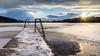 Frozen lake sunset (Sebo23) Tags: mindelsee sunset sunbeams sunstar sonnenstrahlen sonnenuntergang sonne lichtstimmung light lightbeam gegenlicht frozen gefroren jetty steg canon6d canon24704l