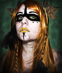 "Gullveig. Serie ""On Fairy Stories"" (Maripaz Molina) Tags: maripazmolina woman goodess diosa portrait retrato girls fairy fairytale retoque makeup"