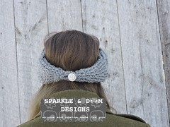 Cabled Diamond Headwrap 03c (zreekee) Tags: crochet sparkledoomdesigns saskatchewan headband headwrap crochetrend grey