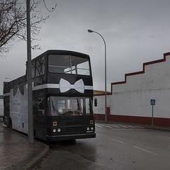 Elegant bus (Julio López Saguar) Tags: juliolópezsaguar conversacionesensilencio talkinginsilence concepto concept calle street urban urbano boadilladelmonte madrid españa spain ventorrodelcano autobus bus elegante elegant pintado painted pajarita