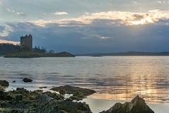 Castle Stalker (jasty78) Tags: castlestalker lochlaich castle loch appin scotland highlands sunset nikon d5200 sigma35mmf14