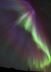 'A Cosmic Performance' - Eyrarbakki, Iceland (Kristofer Williams) Tags: night sky stars aurora auroraborealis northernlights polarlights corona people watching display iceland eyrarbakki nightscape