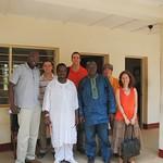 Community Health Sciences Department at Njala Univ. in Bo, Sierra Leone. Front: Oliver Ferguson, Douda Shareef, Mr. A-BS Kamara, Dr. Julia Bello-Bravo Back: Kenneth Long, Gregory Damhorst, Elise Meyers