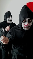 Jack Cucchiaio and Ginosaji! (tonitonim) Tags: cucchiaio ginosaji mask maschere carnevale nuoro face lips eyes portrait tonim tonitonim sardegna sardaigne ridicoli mad