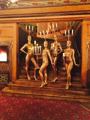 Beauty and The Beast Bodypainted Candelabras (humanstatuebodyart) Tags: beauty the beast bodypainted candelabras
