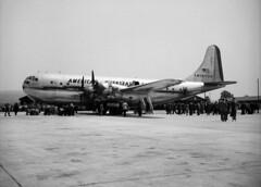 Boeing 377 Stratocruiser am Boden in Zrich-Kloten (eduard43) Tags: airport aircraft flughafen 1949 flugzeuge airplains zrichkloten stratocruiser boeing377