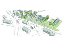 Architects sketch of Culbokie Village Centre