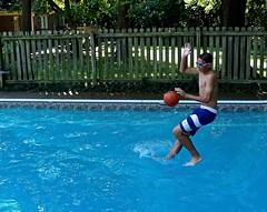 Jonah Dribbling on Water (ricko) Tags: water basketball swimmingpool walkingonwater dribbling johah