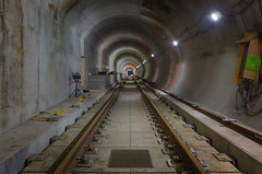 Chugging Along (Pas (sQualie)) Tags: subway concrete rail tunnel extension 2015