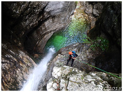 Close to the waterfall (AGTphotos) Tags: mountain water waterfall canyon acqua montagna canyoning cascata veneto torrente torrentismo barranquismo fogarè