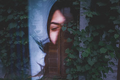 159/365: assimilate (Yen Thu McGrath) Tags: portrait plant blur face project photography vines eyes closed doubleexposure multipleexposure 365 photoproject photochallenge project365 365dayproject