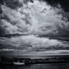 Waiting for the storm (Geir Vika) Tags: ocean sky black sailboat withe vika geir storme bildekritikk