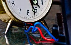 Tick Tock Dilemma (beverlyks) Tags: clock tick dilemma ticktock macromonday beverlysoloway macromondaythemeaslongasitticks bluewireredwire