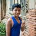 Niño en Yadana Hsimi Pagoda, Inwa - Myanmar