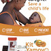 The Kit Yamoyo poster with the latest product formats - available from November 2015 in shoprite, small grocery stores in compounds and villages, and via selected Health Centres. Poster design Andrew Jackson, Photo Credit Simon Berry