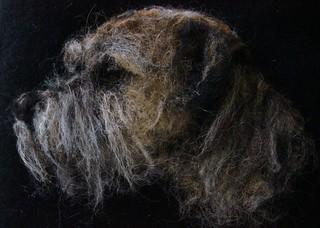 border terrier portrait needle felted (Explored)