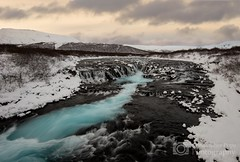Bruarfoss Waterfall - Iceland (Christopher Pope Photography) Tags: snow landscape waterfall iceland 2015 southiceland brúarfoss buarfoss christopherpope