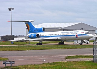 RA85795 TU-154M Kuban Airlines ALK Stansted 28.1.07