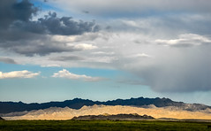 Mongolian Landscape with Clouds