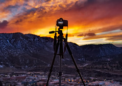 Shooting the Durango, CO Sunset (Dave Toussaint (www.photographersnature.com)) Tags: above travel sunset sky usa cloud nature photoshop canon landscape photo interestingness google interesting colorado colorful raw skies photographer image scenic picture clarity september explore cc adobe co getty durango adjust 2015 denoise 60d topazlabs photographersnaturecom davetoussaint 5dmarkiii creativecloud