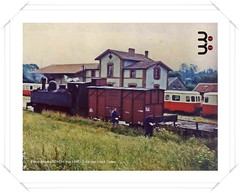 Gare de Rostrenen (22) (LOUIS TOSSER) Tags: france train de wagon brittany gare bretagne locomotive chemin fer breton sncf rseau ctes darmor autorail