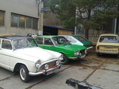 A mix of french and czechoslovakian cars (Predseda) Tags: 120 alpine chrysler 105 gls skoda simca aronde 1308 1307