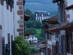 In the village Saint Jean Pied de Port in the Pyrenees!
