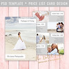 Layered Photoshop Template (daphnepopuliers) Tags: psd photoshop template adobe layered card photocard pricelist cardtemplate marketing business photostudio photography photographer