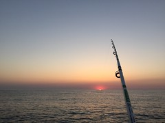 Some great old memories Water Sea Sunset Horizon Over Water Tranquility Tranquil Scene Outdoors Clear Sky No People Nature Sky Beauty In Nature Day Fishing Fishing Rod Sunrise Fishing Time Hobby