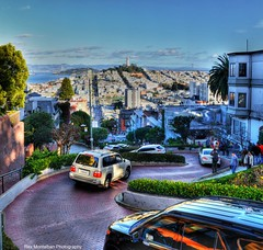 Vertorama Crooked Lombard Street (Rex Montalban Photography) Tags: rexmontalbanphotography hdr sanfrancisco lombardstreet stitchedvertorama crookedstreet