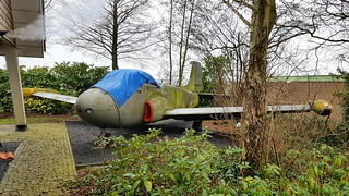 BAC Jet Provost T.3 c/n PAC/W/6326 Royal Air Force - RAF serial XM369 preserved in a garden in Roelofsarendveen, The Netherlands